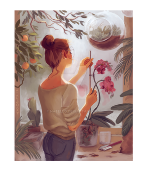 Anna and plants by Natello