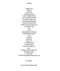 Forgive me (destiel poem) by PinkBucky
