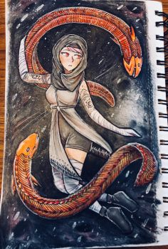 Hayar Ali and her Eels by Aunyst
