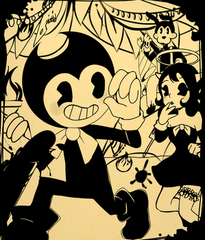 One hellish feast (Bendy and the ink machine) by Kristina1224