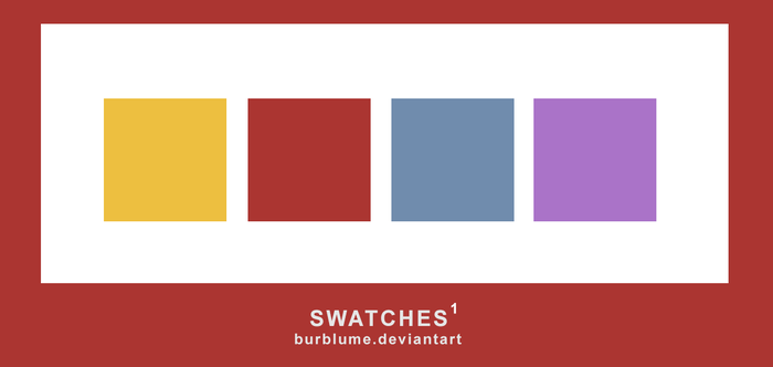 SWATCHES #1 - BURBLUME by BurBlume