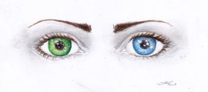 graceling eyes by cherryclaires
