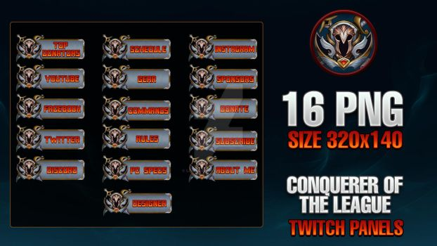 Conquerer Of The League - Twitch Panels by lol0verlay