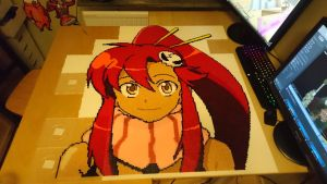 Yoko 5 - Just before ironing! (WIP) by MagicPearls
