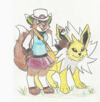Art Trade: Pokemon Trainer PAsTe by UmaKaru