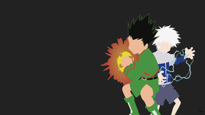 Gon/Killua (Hunter x Hunter) Minimalist Wallpaper by greenmapple17