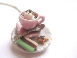 Whit Hot Chocolate and Cookie Necklace by CandyChick