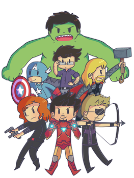 The Avengers by ecokitty