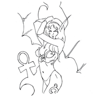 the world of warcraft woman drawing (line art) by electronicdave