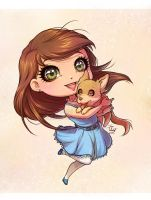 Chibi for Holly Bell by SandraCharlet