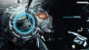 Metal Gear Rising Launcher 1.0 rainmeter desktop by tgibro