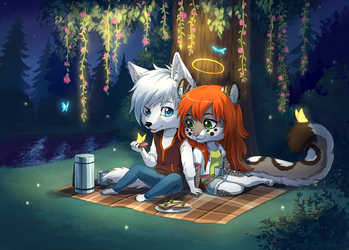 Date Night at the River by Vermutlich-die-Maler