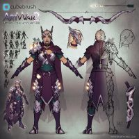Artemis the Holy Archer Concept Sheet by Silartworks