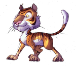 Cartoon Tiger by IzaPug