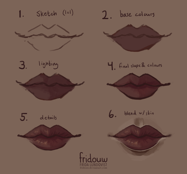 Lips step-by-step by fridouw