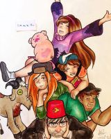 Gravity Falls by amzzz123