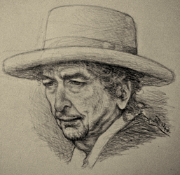 Bob Dylan Pencil Sketch by dwightyoakamfan