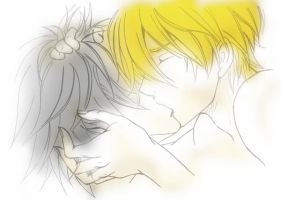Kiss me Softly - L and Light by byouin