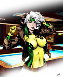 Rogue by Deilson with Background by Ryan-Butler