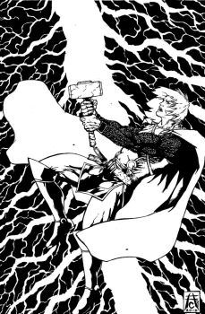 Thor The God Of Thunder!!! by TheInkmieser