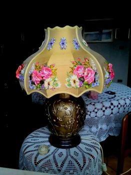 Embroidered lampshade by TetianaKorobeinyk