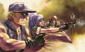 Kof - Ikari Team Training by Wilustra