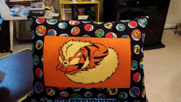 Hand-Painted Arcanine Pillow by TaoKyuubimon