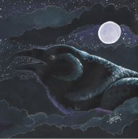 Raven Brings The Night by LunarSymphony