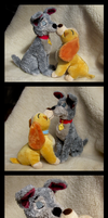 UK Disney Store - Lady And The Tramp Set - Kissing by The-Toy-Chest