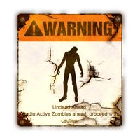 WARNING - Zombies Ahead by Seraphoid
