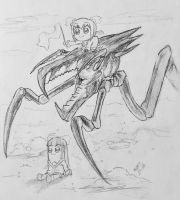 PopTeamEpic.. and a bug. by MidstOfSkyHaven