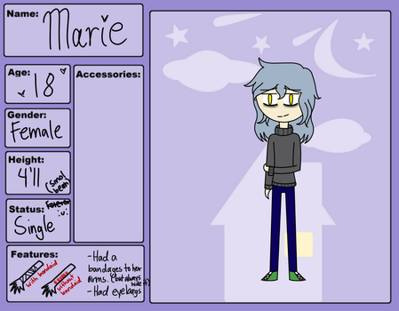 Marie: OC-City-Life Application by SweetGirl121212