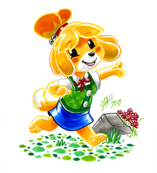 Isabelle Lineless by joshuadraws
