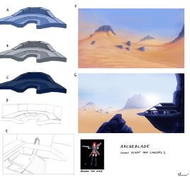 ArcheBlade: Sandy Desert Concepts 1 by southpawper