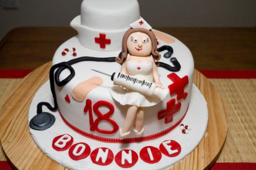 Nurse 18th Birthday Cake by 1the1