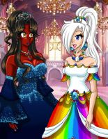 Anelia and Kake at the Ball by LilacPhoenix