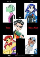 Teen Titans go !!! by Sheep-in-the-moon