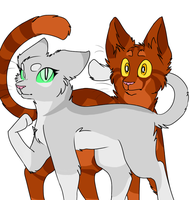 Needletail and Alderheart by Harryfly