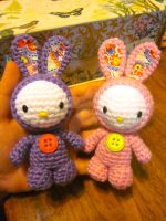 Hello Kitty Easter Spring Bunny Amigurumi by Spudsstitches