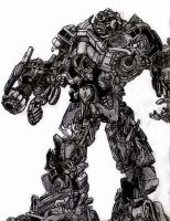ironhide movie style by NickoTheArtist