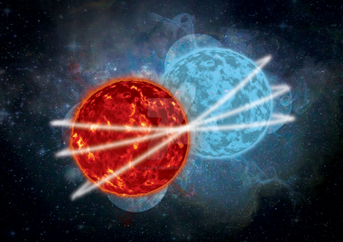 Fire and Ice Planets by LisasDezign