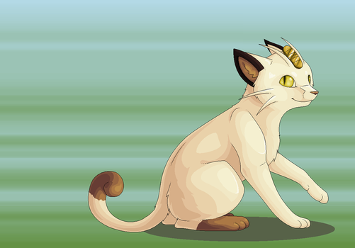 A wild Meowth appeared by Dinaria