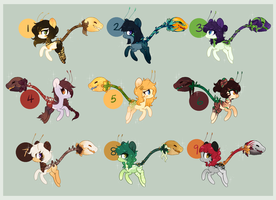 Faelie Plant Pony Adoptables ( CLOSED) by Glitterring