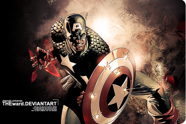 marvel universe: Cpt America by TheWard