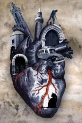Blue Heart Print Final by Deathanee