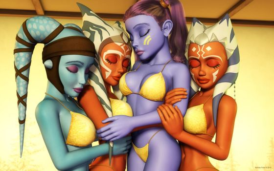 Clone Wars girls by kondaspeter1