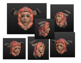 Head3d Demongirl by ManiacPaint
