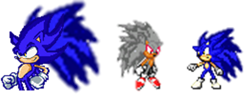 Super Sonic Fase 5 and Flash Fase 5 by sonicfancy3570