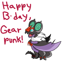 Happy Birthday, Gearpunk!! by GECKO-Nuzlockes