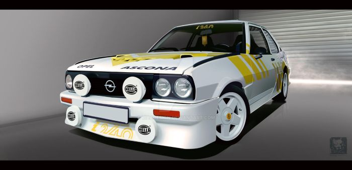 Opel Ascona B rally by RibaDesign
